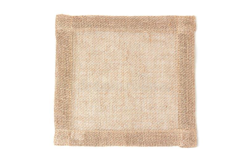 在whiye的亚麻布餐巾 免版税库存照片