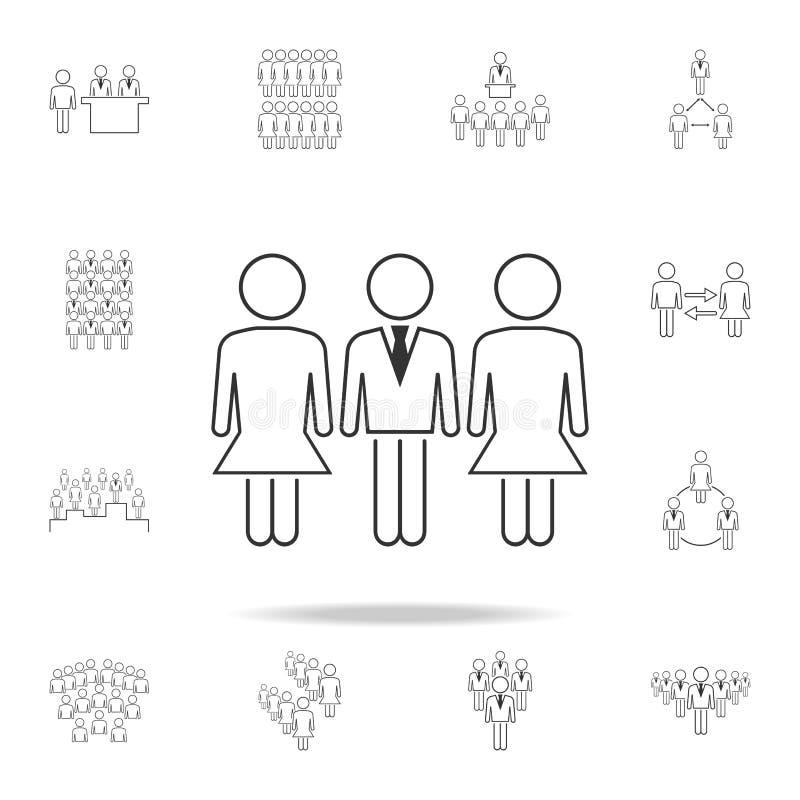 在workicon的男女平等 详细的套工作象的人 优质图形设计 其中一个汇集象为 皇族释放例证