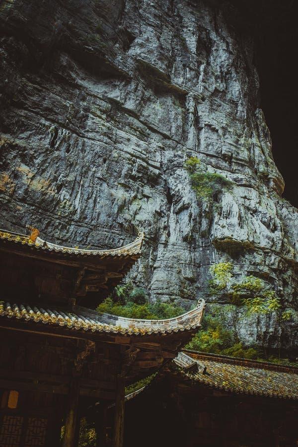 在wulong,重庆,瓷的污水池 免版税库存图片