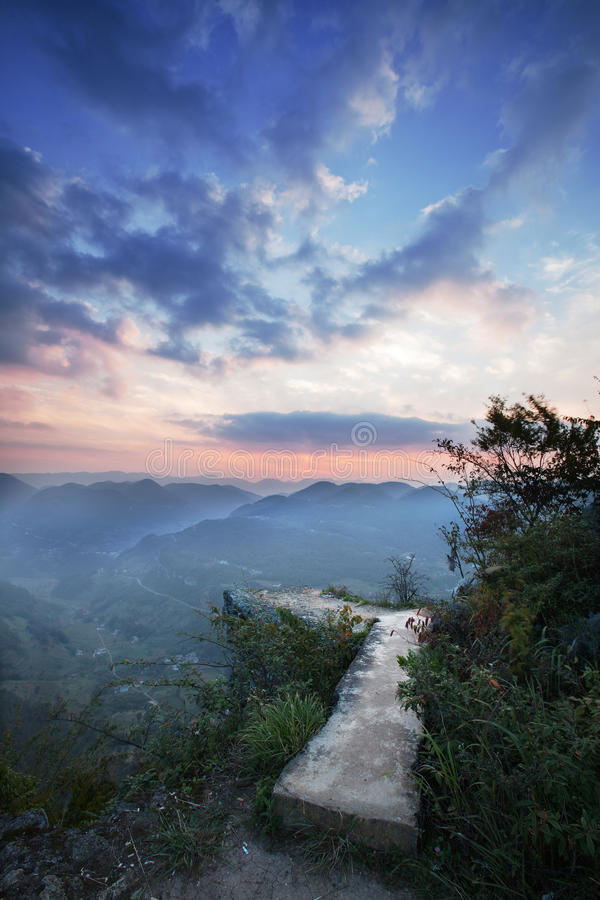 在wulong,重庆,瓷的神仙的山 免版税库存图片