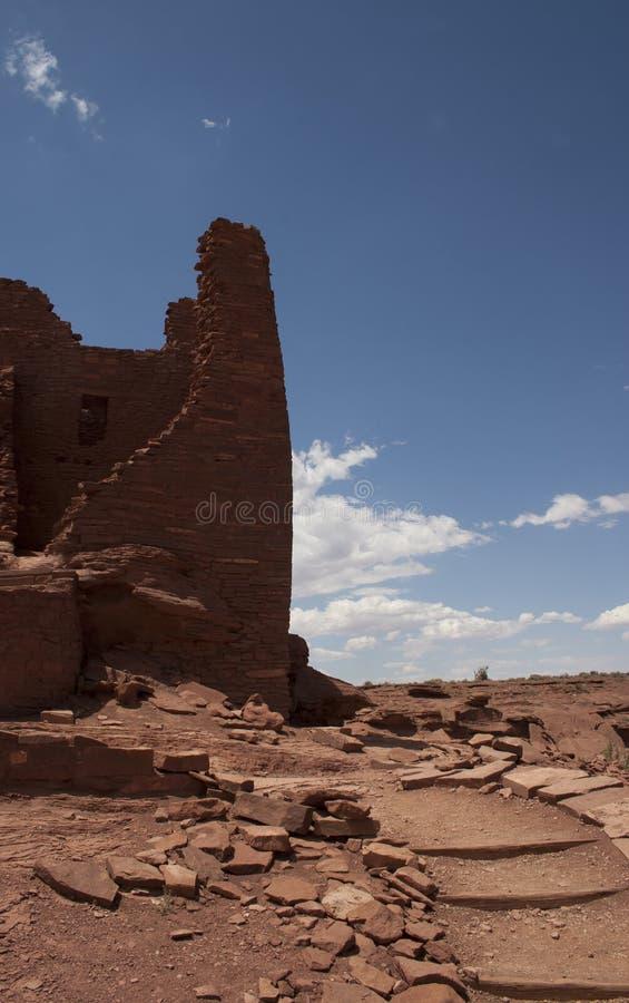 在Wupatki的废墟 免版税库存图片