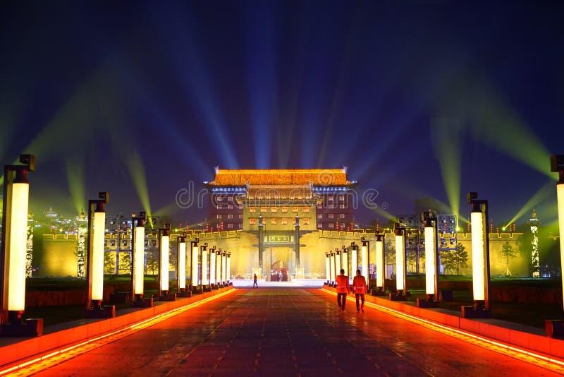 在XI `的伟大的城市墙壁中国 免版税库存图片