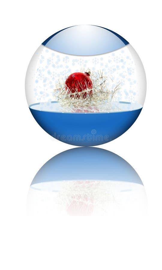 在xmas里面的球玻璃 库存图片