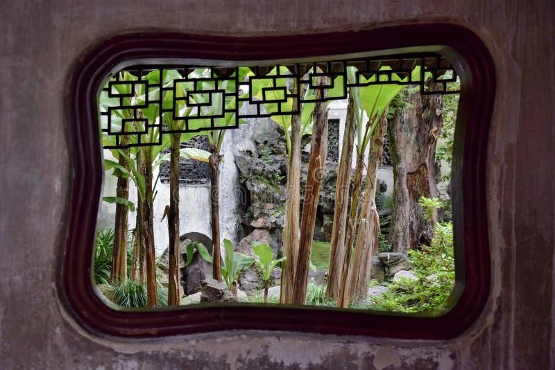 在Yu庭院里面在上海 免版税库存照片
