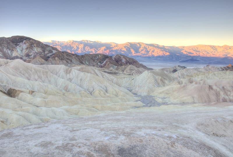 在Zabriskie点,死亡谷日出的全景  免版税库存照片