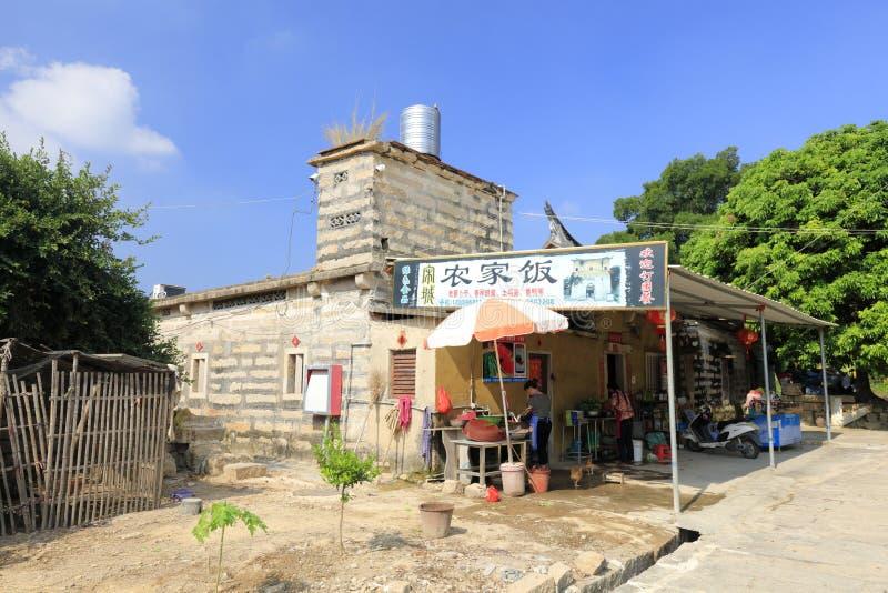 在zhaojiabao村庄,多孔黏土rgb种田餐馆 免版税图库摄影