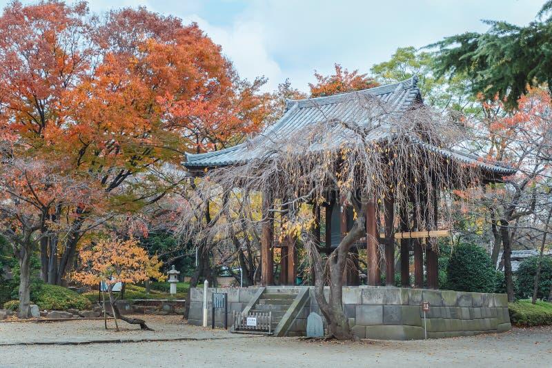 在Zojoji寺庙的钟楼 库存图片