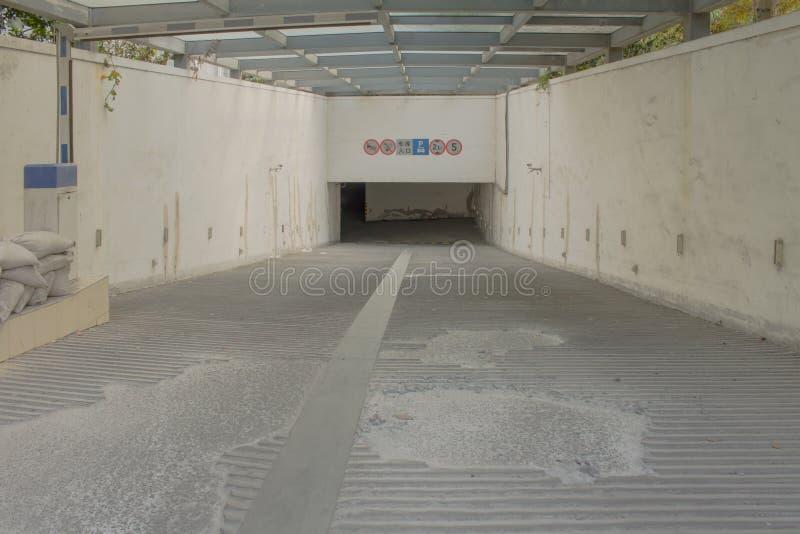 地下停车处在中国 免版税库存照片