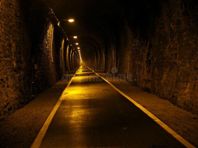 地下地铁隧道 库存图片