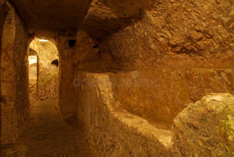 地下墓穴基督徒马耳他拉巴特 库存照片