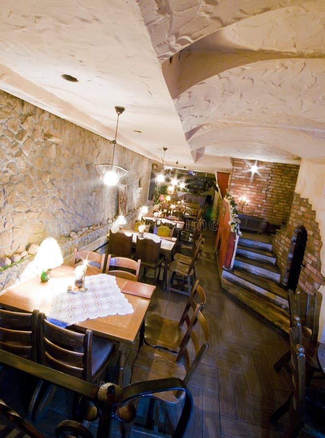 地下室餐馆 库存图片