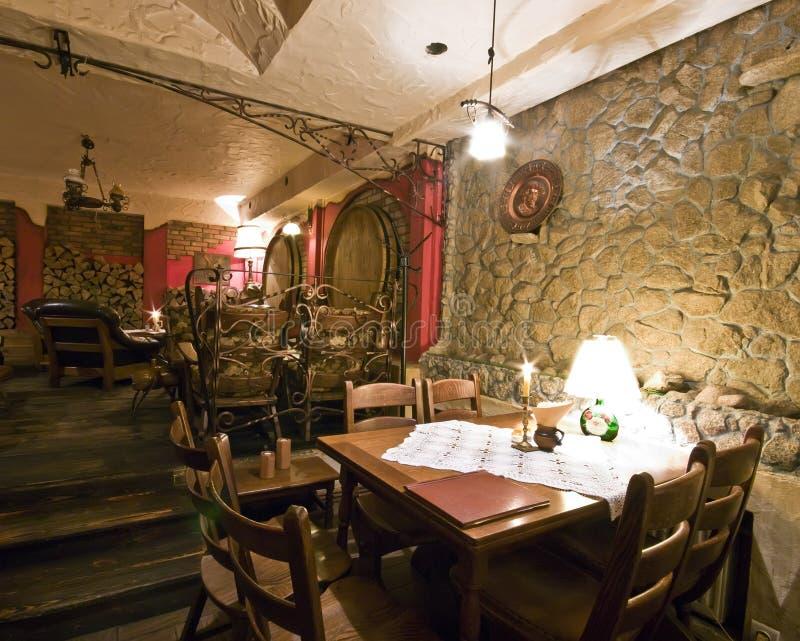 地下室餐馆 库存照片