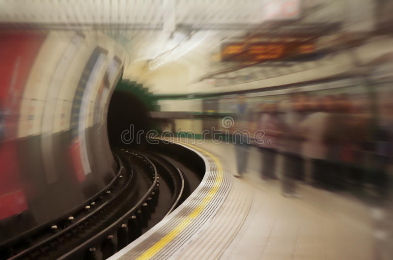 地下岗位地铁 免版税库存照片