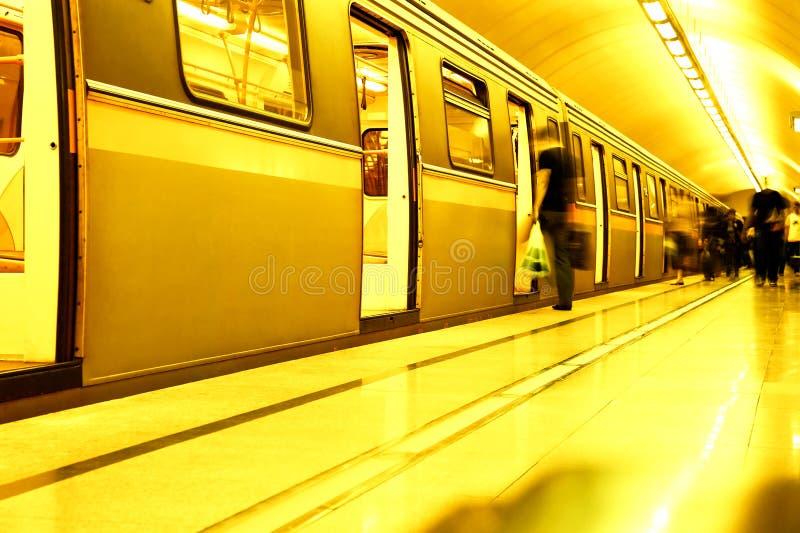 地下岗位地铁 免版税库存图片