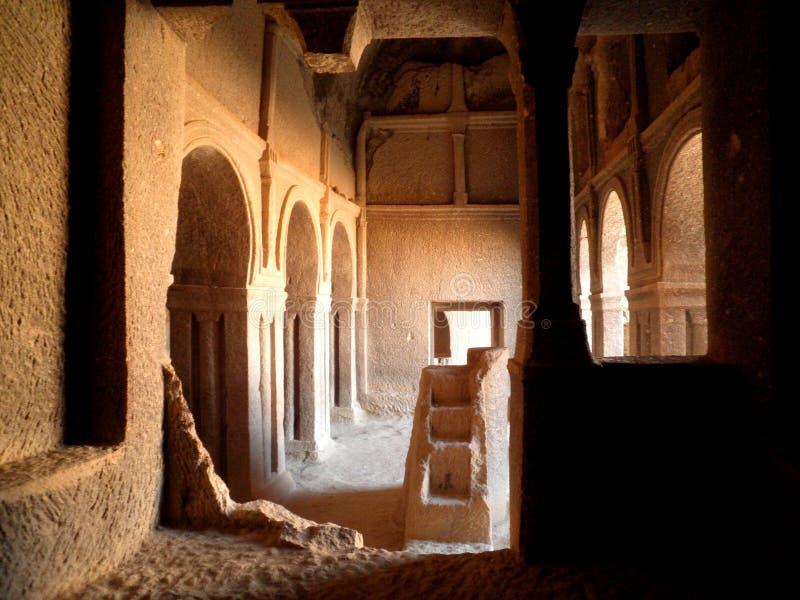 地下教会在卡帕多细亚 库存照片