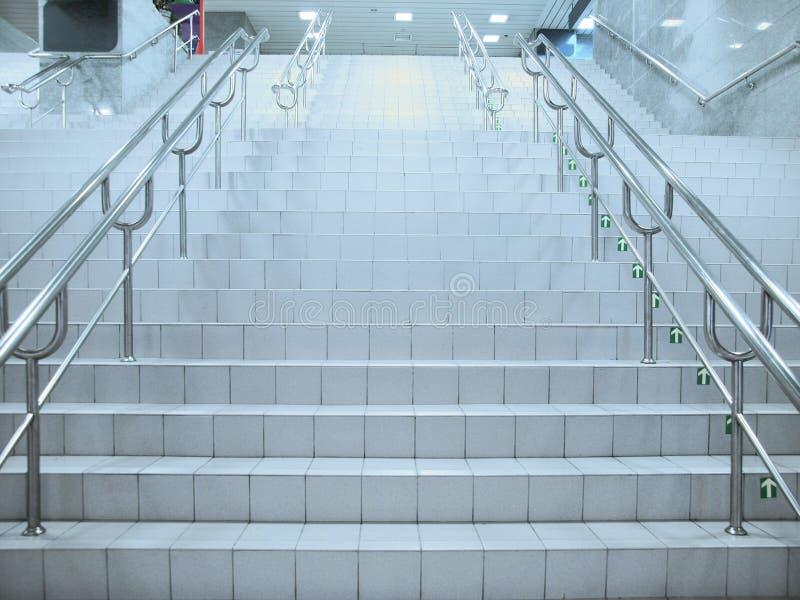地下段落楼梯 免版税图库摄影