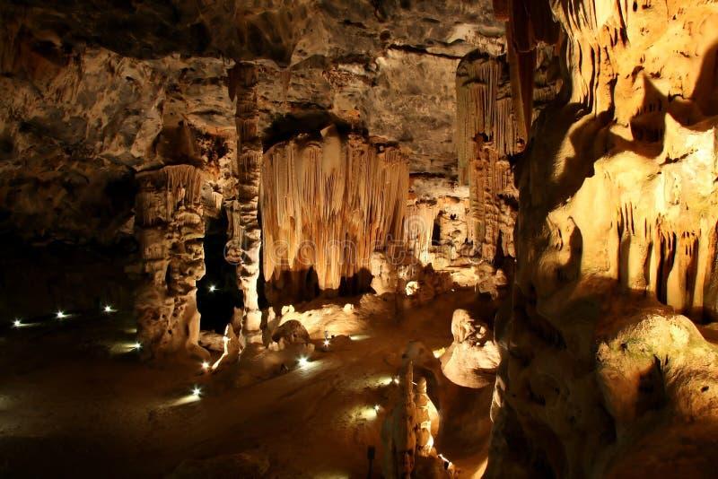 地下洞穴形成 免版税库存照片