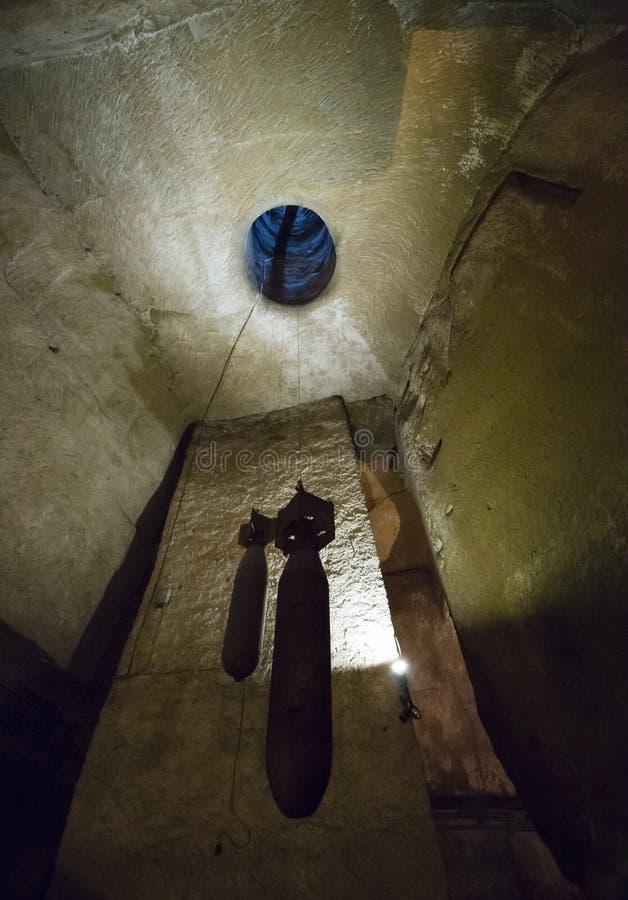 地下炸弹 免版税库存照片