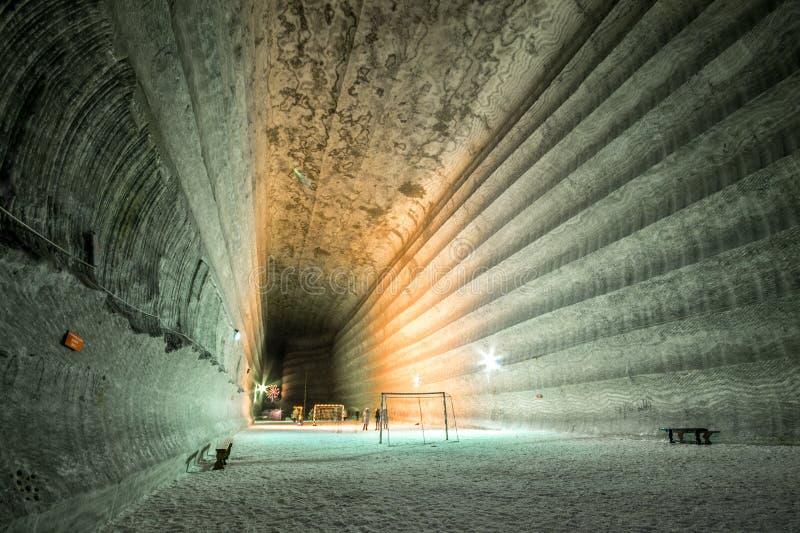 地下矿 乌克兰,顿涅茨克 库存图片