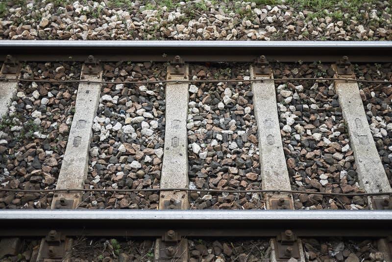 地下铁路轨道 图库摄影