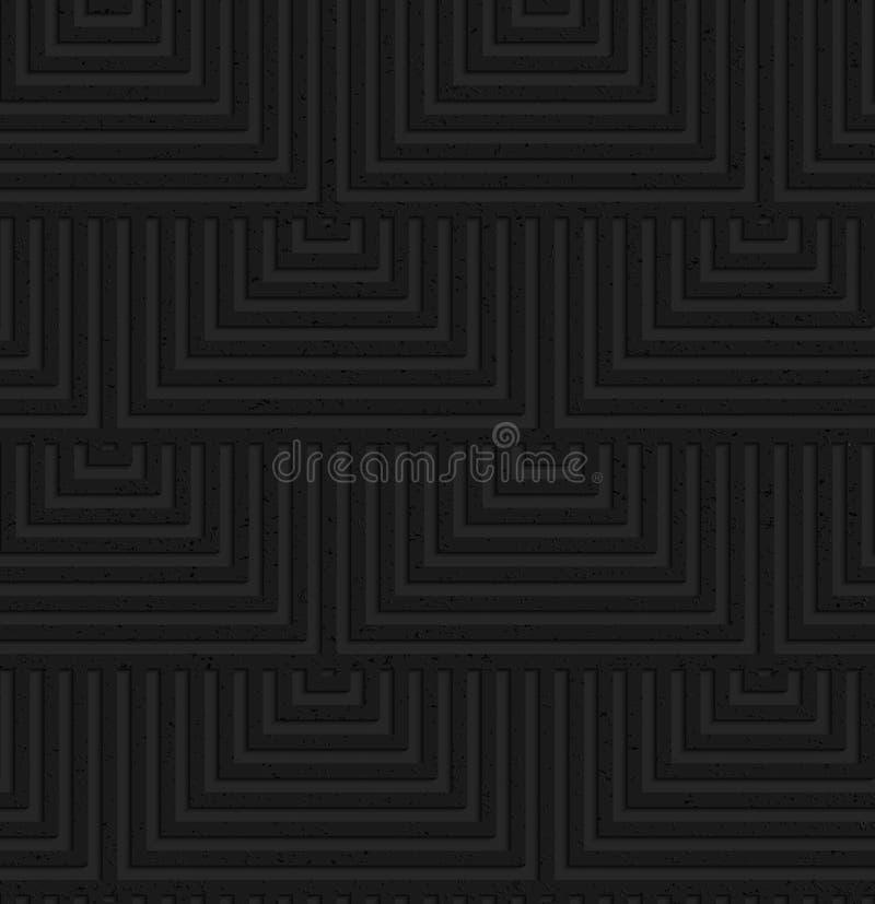 织地不很细黑塑料重叠的正方形 库存例证