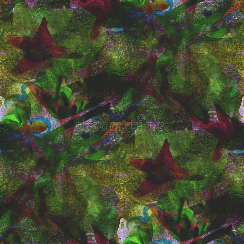 织地不很细无缝的棕色,绿色调色板图片 免版税图库摄影