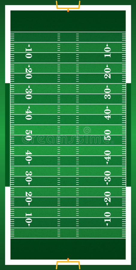 织地不很细草垂直的橄榄球领域 向量例证