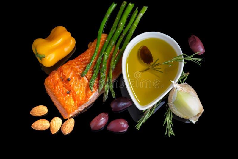 地中海Ω3饮食。 库存图片