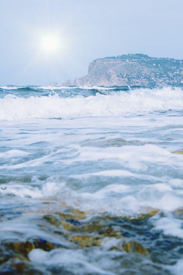 地中海和阿拉尼亚半岛,土耳其风景  旅游业,手段,暑假概念 r 免版税库存照片