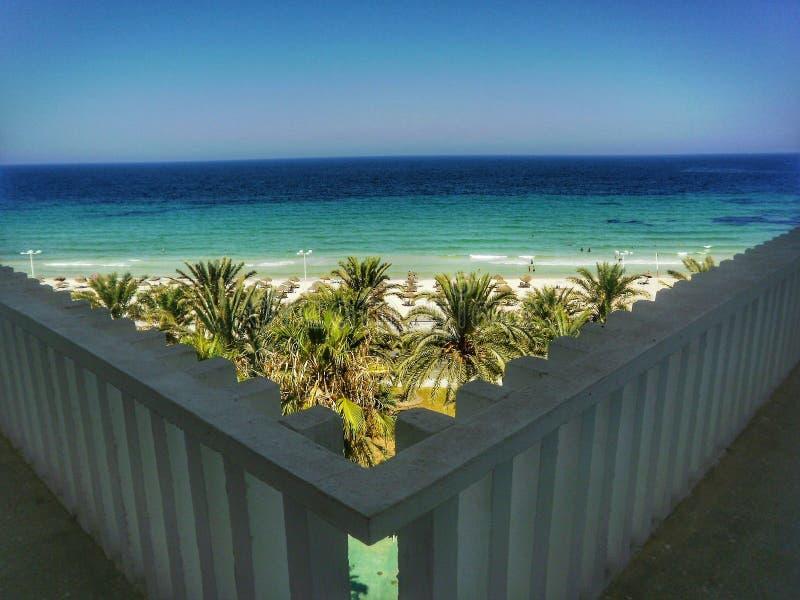 地中海在苏斯,突尼斯 免版税库存照片