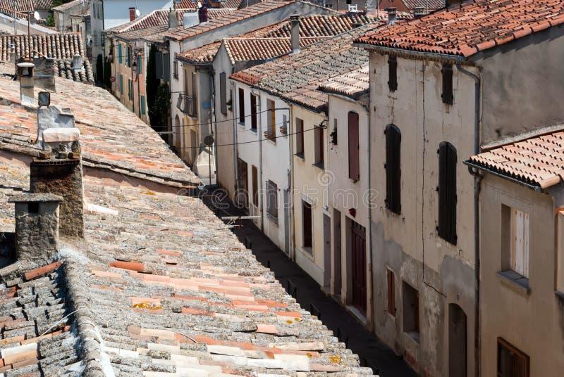 地中海房子的运输路线 库存照片