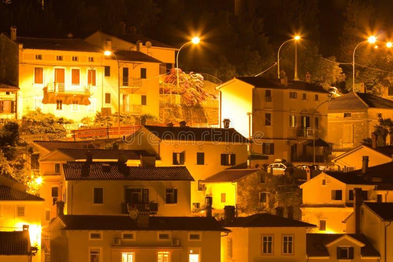 地中海晚上老城镇 免版税库存照片