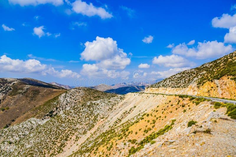 地中海海岛纳克索斯的风景的出色的意见在希腊 免版税图库摄影