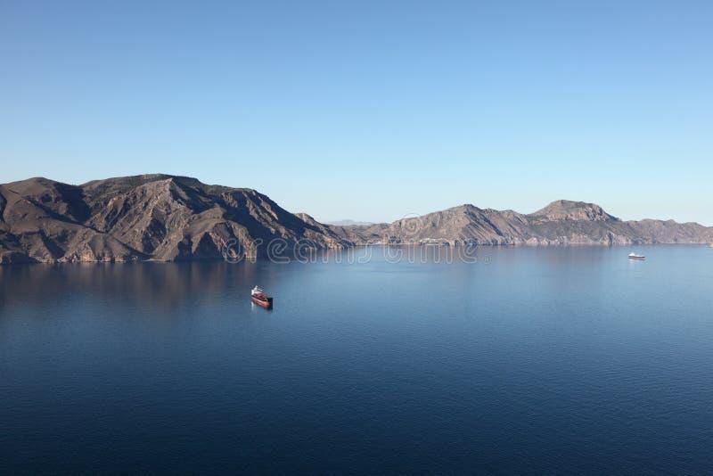 地中海海岸线,西班牙 图库摄影