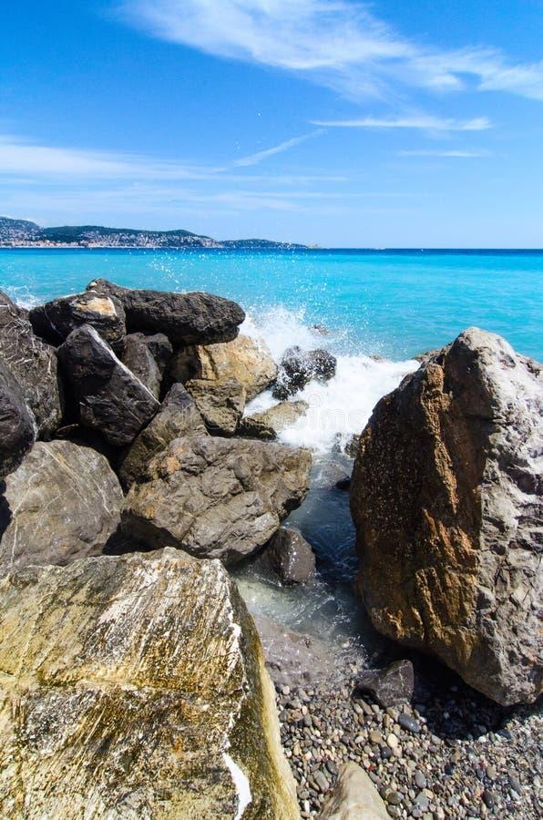 地中海海岸线 免版税库存照片