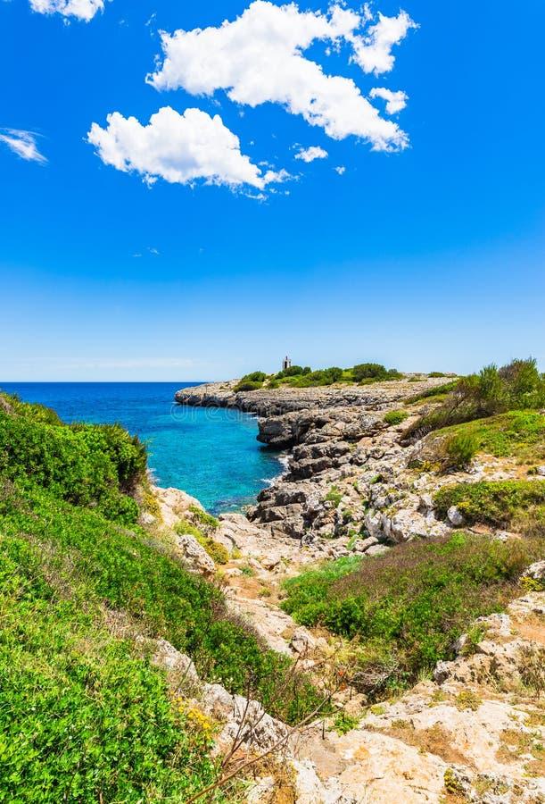 地中海海岸西班牙马霍卡岛 库存照片
