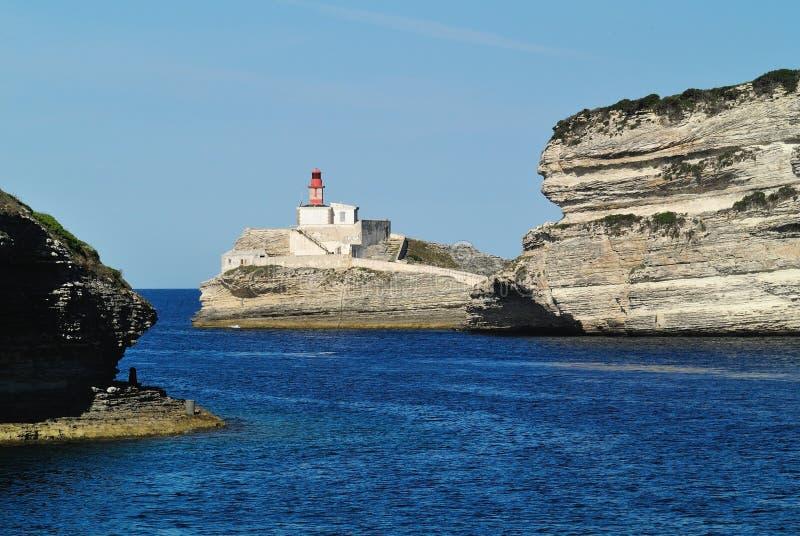 地中海海岸,Corse,法国 免版税图库摄影