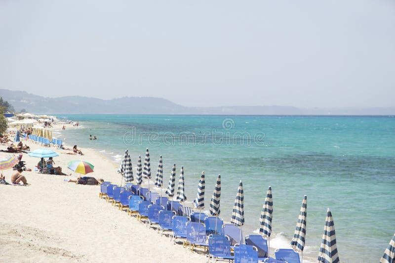 地中海海滩 免版税库存照片