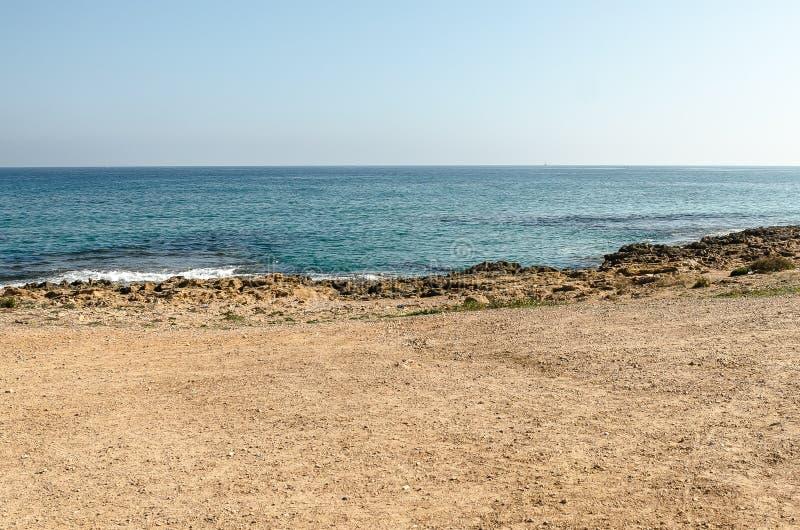 地中海海滩 图库摄影