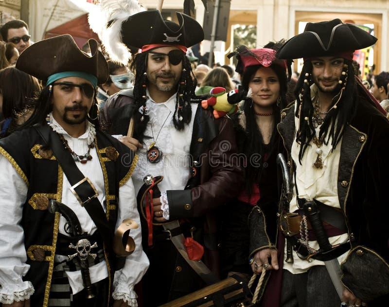 地中海海盗 库存照片
