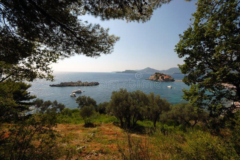 地中海的横向 免版税库存图片