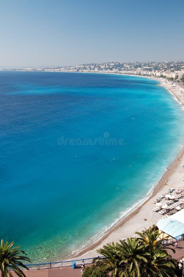 地中海的海岸线 图库摄影