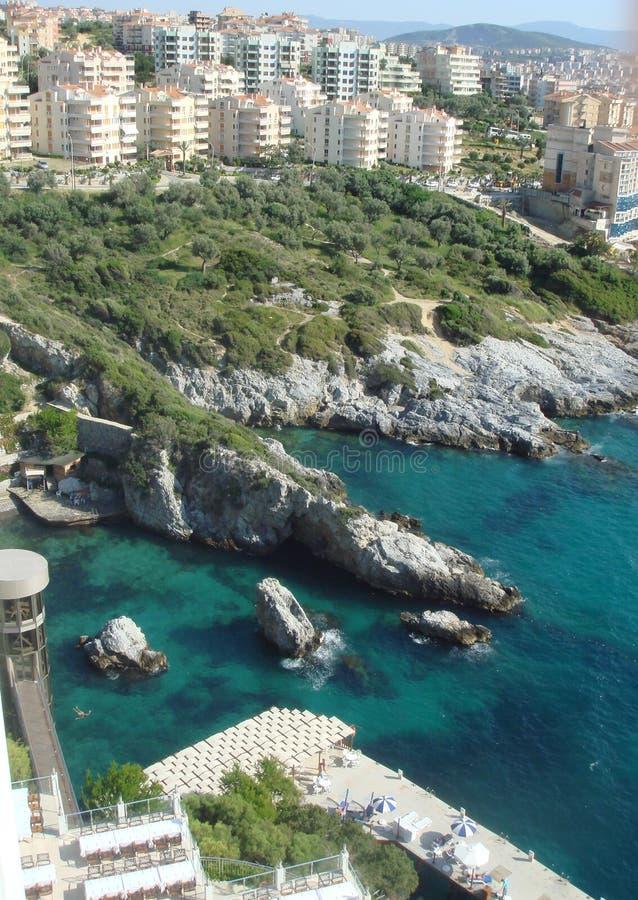 地中海的美丽的海岸 库存照片
