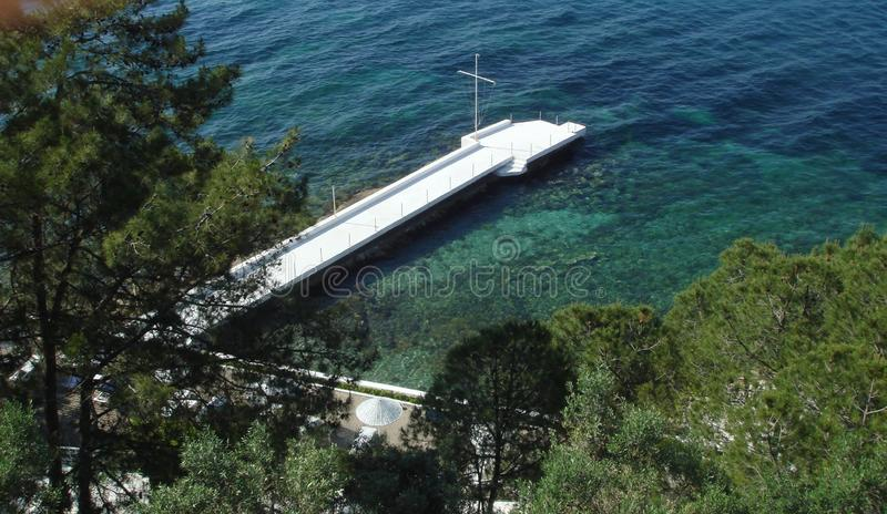 地中海的美丽的海岸 免版税库存图片