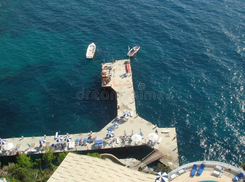 地中海的美丽的海岸 库存图片