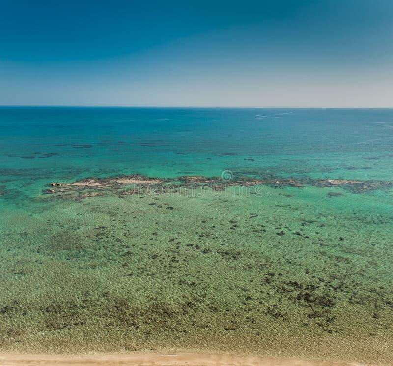 地中海鸟瞰图  库存照片