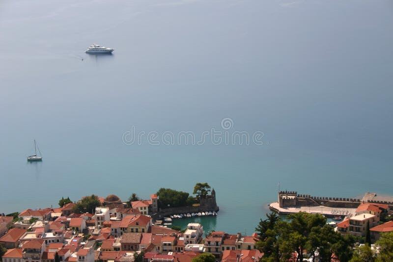 地中海3的美丽如画的渔村 库存图片