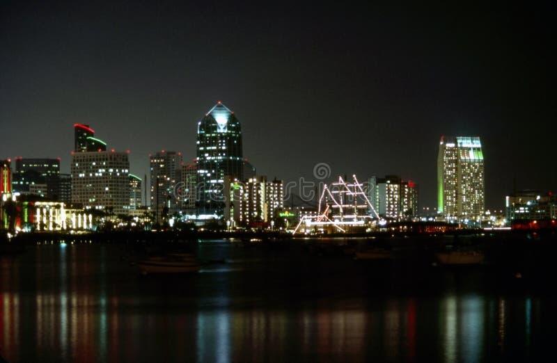 地亚哥晚上圣 免版税库存照片