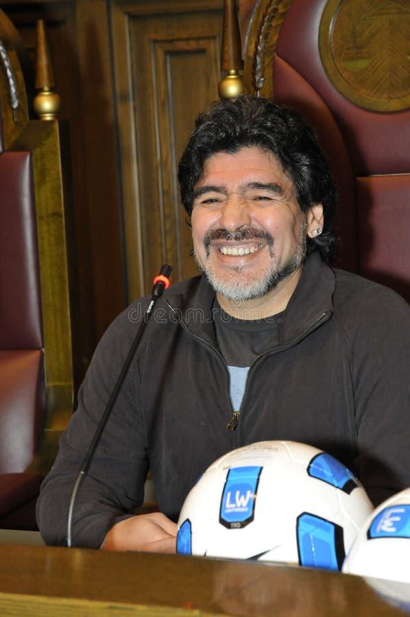 地亚哥maradona 免版税图库摄影