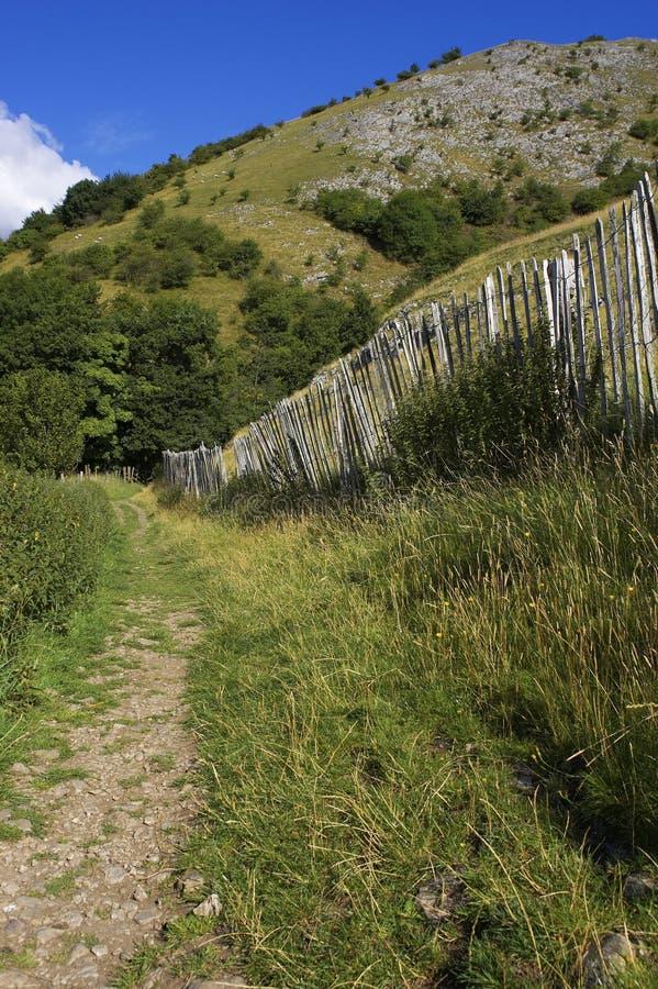 地区英国范围排行了路径峰顶纠察队&# 库存图片